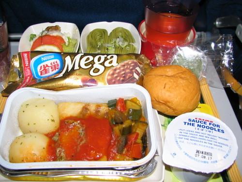 キャセイパシフィック航空 機内食!